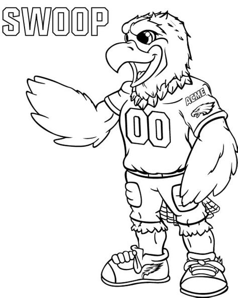 Philadelphia Eagles Coloring Pages Learny Kids