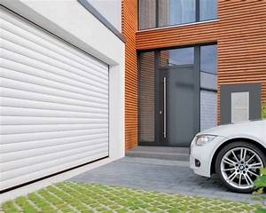 hormann porte de garage enroulable rollmatic blanc et With porte de garage enroulable hormann