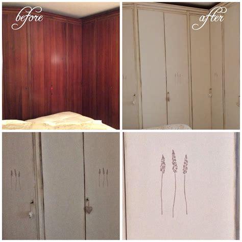 stencil per da letto armadio da letto shabbato e decorato con stencil