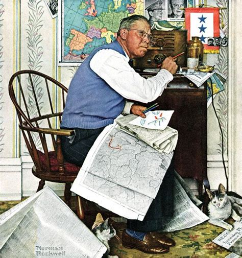 Armchair General by Quot Armchair General Quot By Norman Rockwell April 29 1944 This