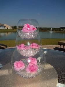 Pink flower wedding centerpiece - Water Beads Design