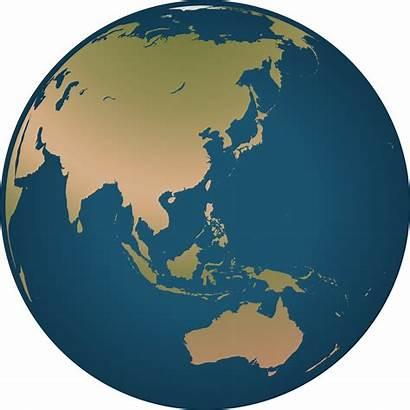 Globe Asia Australia Facing Clipart Svg