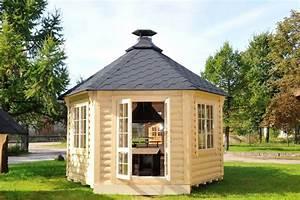 Grill Pavillon Holz : gartenpavillon gartenhaus aus bestem holz mit grill und schornstein ~ Whattoseeinmadrid.com Haus und Dekorationen