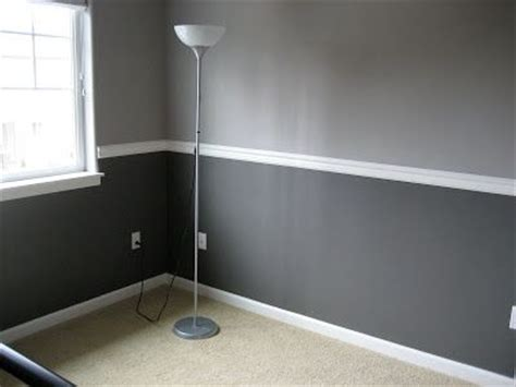 Two Tone Walls Without Chair Rail by Elephant And Slate Gray From Valspar Paint Colors
