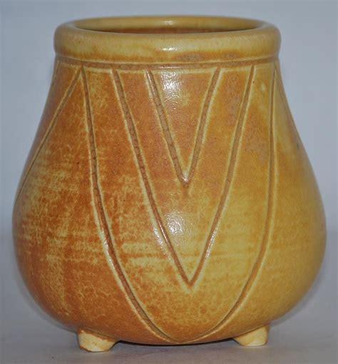 Rookwood Pottery 1901 Footed Vase Carved Geometric Design