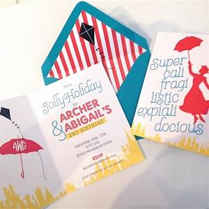 7 best AJS Mary Poppins Party Invite images on Pinterest ...