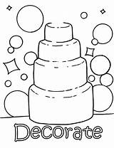 Coloring Pages Activity Cake Colouring Games Activities Discover Colors sketch template