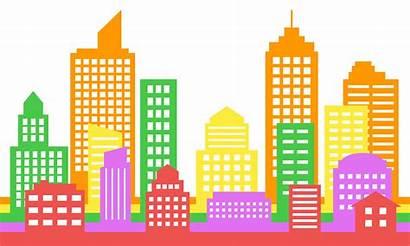 Modern Cityscape Colorful Background Architecture Vector Bright