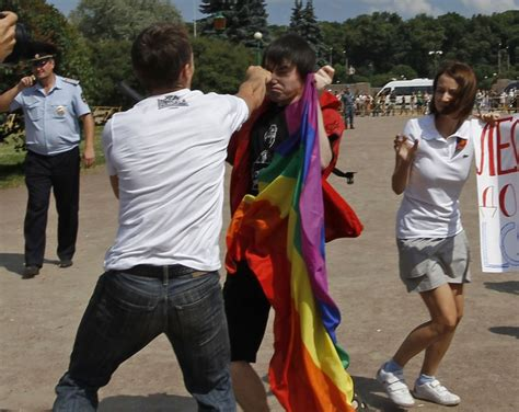 Gay Rights Activists Clash With Homophobic Protesters In