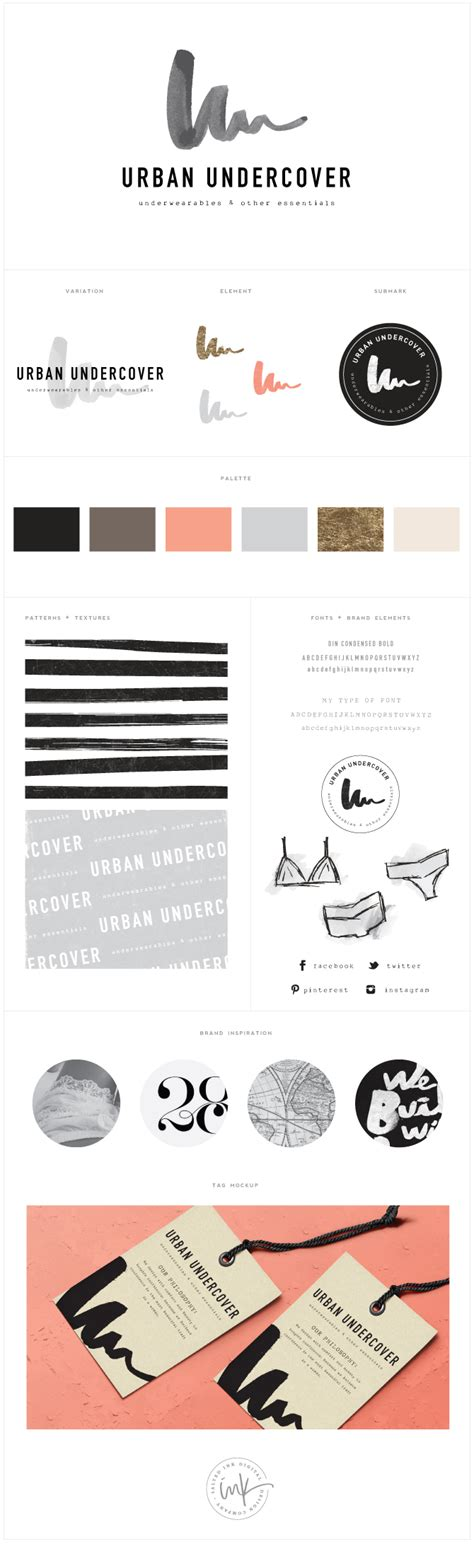 Brand Launch Urban Undercover  Salted Ink Design Co