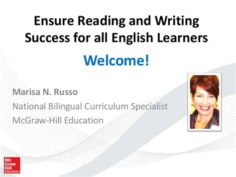Ensure Reading And Writing Success For All English Learners