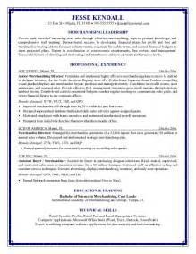 director of merchandising resume exles exle merchandising director resume free sle