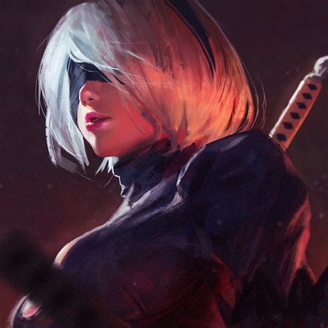 Deviantart Anime Wallpaper - 2b by guweiz on deviantart