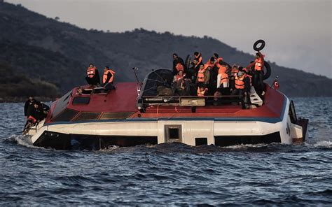 Sinking Boat by Photos 150 Rescued From Sinking Boat Lesbos Al