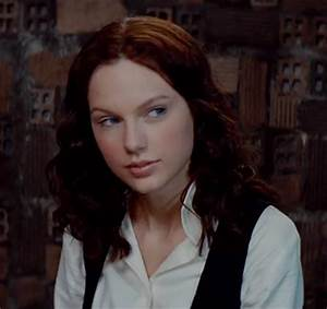 Taylor Swift In 'The Giver' — Brown Hair & Minimal Makeup ...