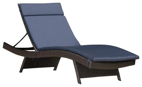 chaise navy lakeport outdoor wicker adjustable chaise lounge with navy colored cushion contemporary