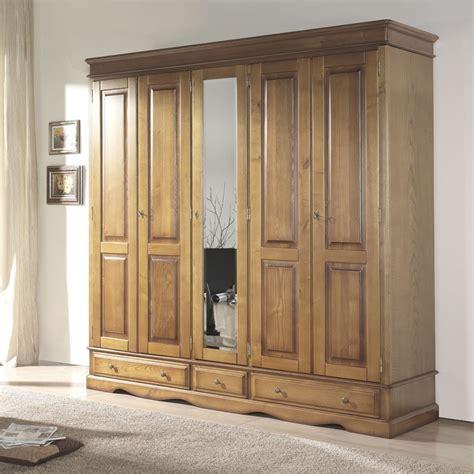 penderie chambre armoire penderie en bois massif myqto com