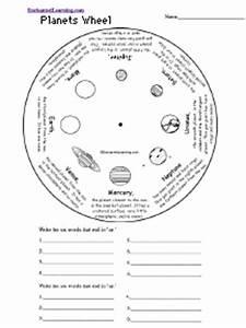 Planets Word Wheel: Printable Worksheet ...