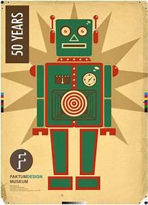 Retro Robot Faktum Poster by JoelPoischen on DeviantArt