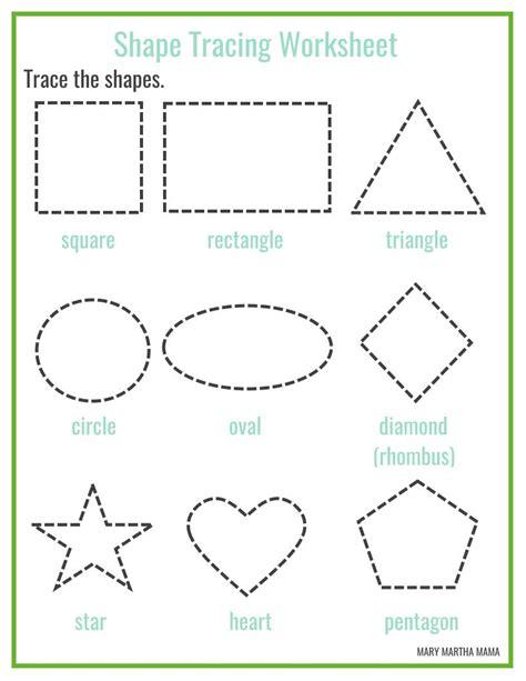 shapes worksheets for preschool free printables mary martha