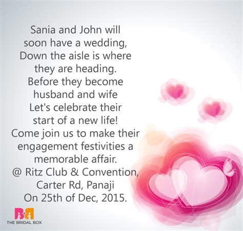 indian engagement invitation wording ideas