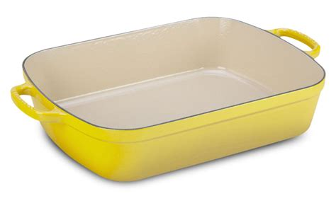 le creuset signature cast iron roasting pan  soleil cutlery