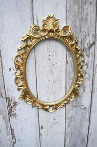 Gold Baroque Oval Frame French Style Open back Ornate ...