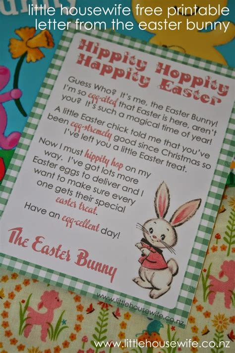 easter bunny letter create  printable easter bunny