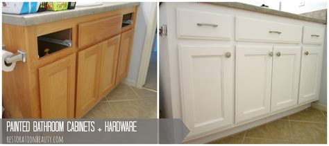 painted bathroom cabinets before and after restoration beauty painted bathroom cabinets hardware