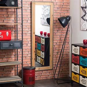 Miroir 160 Cm : miroir en bois et m tal h 160 cm factory maisons du monde ~ Teatrodelosmanantiales.com Idées de Décoration