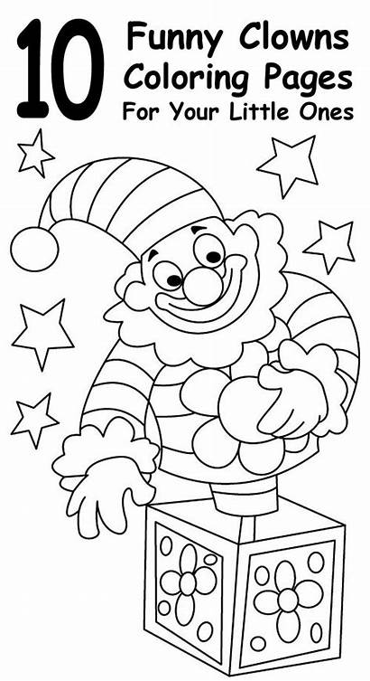 Coloring Pages Sheets Clown Ghetto Books Funny