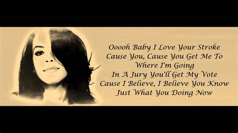 Aaliyah Rock The Boat Hd by Aaliyah Rock The Boat Lyrics Hd