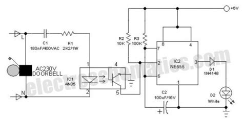 Battery Operated Doorbell Light Circuit Electronic