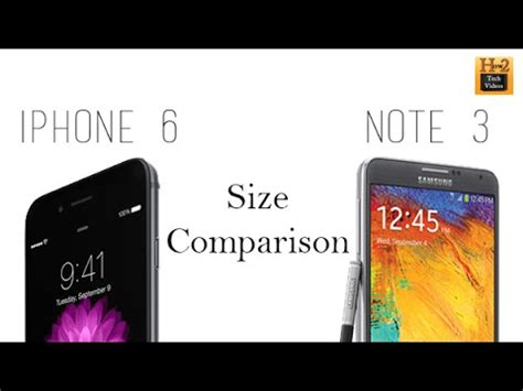 iphone 6 size comparison iphone 6 vs galaxy note 3 size comparison 15083