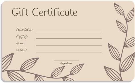 gift voucher template word free blank gift certificate template word printable calendar templates