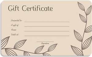 salon gift certificate template blank gift certificate With free printable hair salon gift certificate template