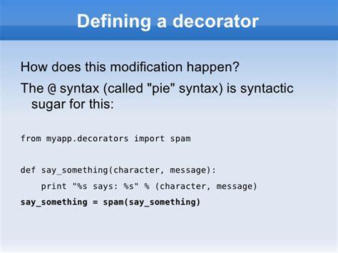 Decorators In Python - decorators in python