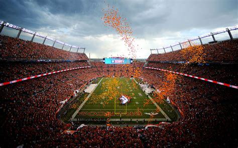 Broncos stadium at mile high is the new name of what was mostly recently called sports authority field at mile high and what most fans still prefer to call mile high stadium. Sports Authority Field- thought this was a pretty nice pic ...