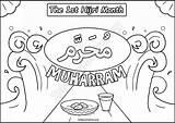 Islamic Muharram Month Coloring 1st Comics Activity Sheet Hijri Subscribe Please sketch template