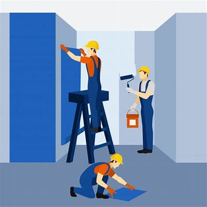 Renovation Building Vector Icon Poster Appartment Construction