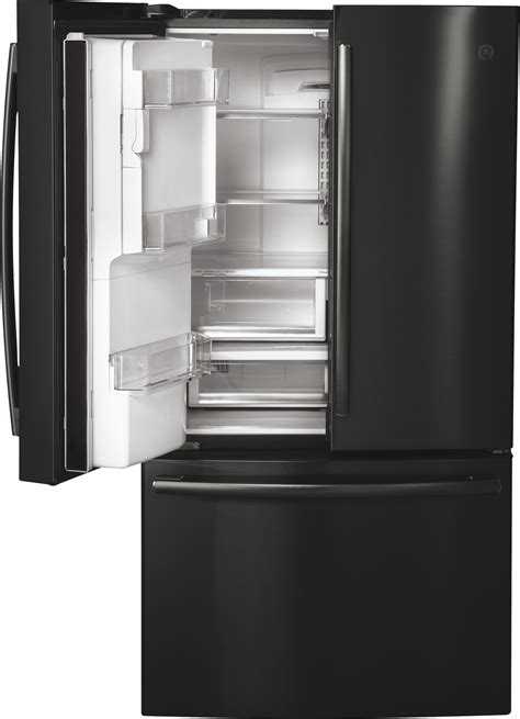 pyekblts ge profile   cu ft counter depth french door refrigerator black