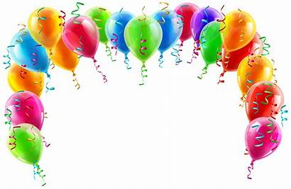 Arch Balloon Birthday Transparent Clipart Border Colorful