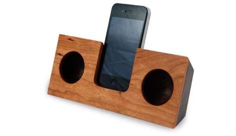 wooden iphone speaker tree cut sound docks koostik wood iphone speaker