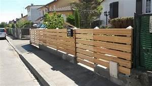 Portail En Bois : cl ture en bois trait autoclave portail et portillon sur ~ Premium-room.com Idées de Décoration