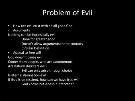 Problem Of Evil Essay by Philosophy 101
