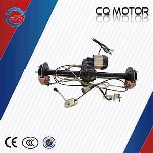 48v 1000w Manual Shift Disc Brake Rear Axle For Electric