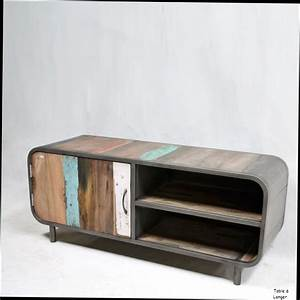 Table Alinea Bois : meuble tv industriel vintage ~ Teatrodelosmanantiales.com Idées de Décoration