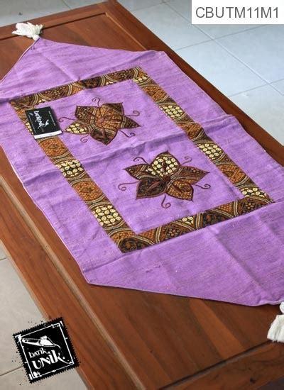 taplak meja segi enam motif kembang kupu batik taplak