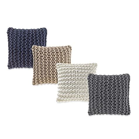 bed bath and beyond sofa pillows kenneth cole reaction home pearl knit throw pillow bed