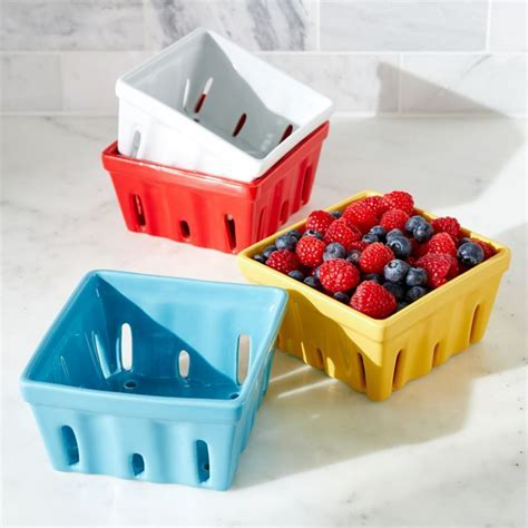Berry Box Colanders   Crate and Barrel